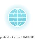 globe icon network 33681001
