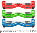 set of colored hoverboards 33683359