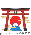 富士山 日本 鳥居 33683533