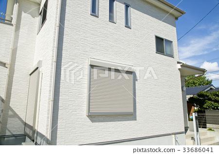 전동 셔터있는 창문 33686041