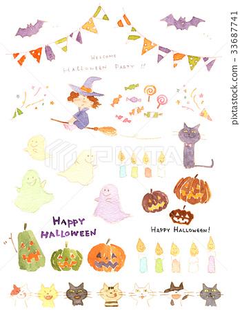 halloween, watercolour, watercolors 33687741