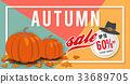 Autumn sale banner background template design 33689705