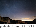 Night on the Alps under starry sky 33689933