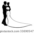 Bride and Groom Wedding Silhouette 33690547