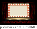 Cinema or theatre with style light bulb sign 33690603