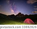 camping, milky, way 33692826