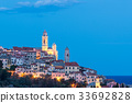 The old town of Cervo, Liguria, Italy 33692828