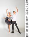 beautiful ballet couple 33694580