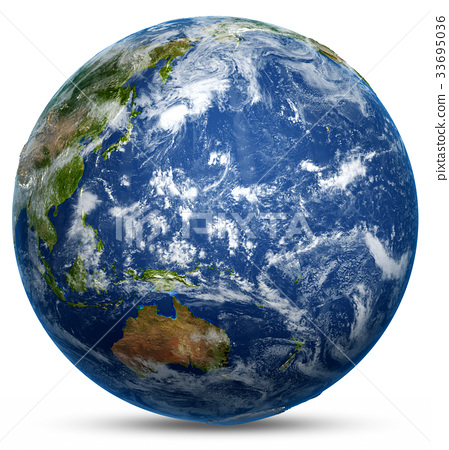 Planet Earth 3d rendering 33695036