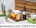 紅葡萄酒 麵包 橙色 33695502