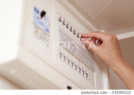 斷路器(電動全電動手指身體部位無面女手開關按鈕開) 33696010