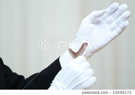 白手白手套(男工作商人鑑定司機司機司機調查犯罪警察評估葬禮) 33696272