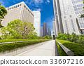 辦公區和綠色的高層建築 33697216