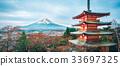 Mount Fuji, Chureito Pagoda in Autumn 33697325