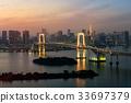 Tokyo Tower and Rainbow Bridge in Japan 33697379