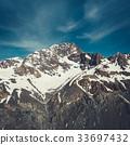 Winter Landscape of Snow Mountain Range 33697432