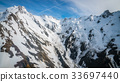 Winter Landscape of Snow Mountain Range 33697440