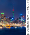 Auckland city skyline at night 33697524