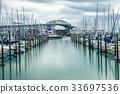 Auckland Harbour Bridge in Auckland, New Zealand 33697536