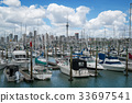 Yacht at Harbour in Auckland, New Zealand 33697541