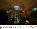 Singapore Night Skyline at Gardens by the Bay 33697570