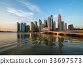 Singapore Skyline at Sunrise at Marina Bay 33697573