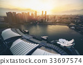 Singapore Skyline at Marina Bay from Aerial View 33697574