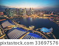 Singapore Skyline at Marina Bay from Aerial View 33697576