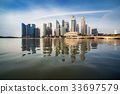 Singapore Skyline at Sunrise at Marina Bay 33697579