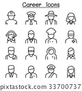Career, Occupation, Profession icon in thin line 33700737