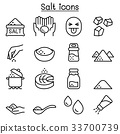 Salt icon set in thin line style 33700739