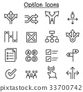 Option icon set in thin line style 33700742