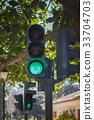 green traffic light 33704703