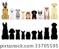 vector, vectors, dog 33705595