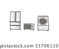 White goods home appliances refrigerator microwave washing machine 33706110