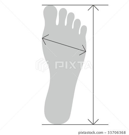 Foot sole measurement 33706368