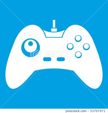One joystick icon white 33707971