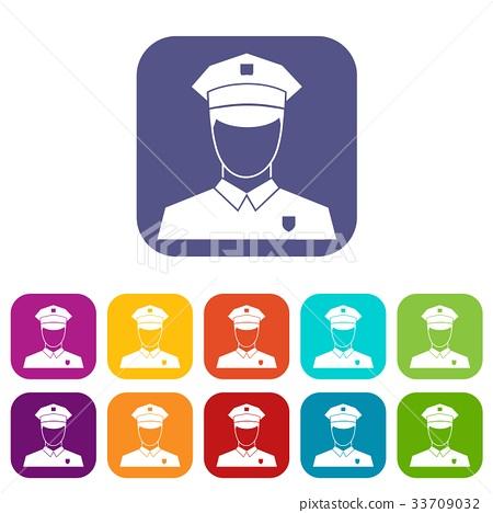 Pilot icons set 33709032