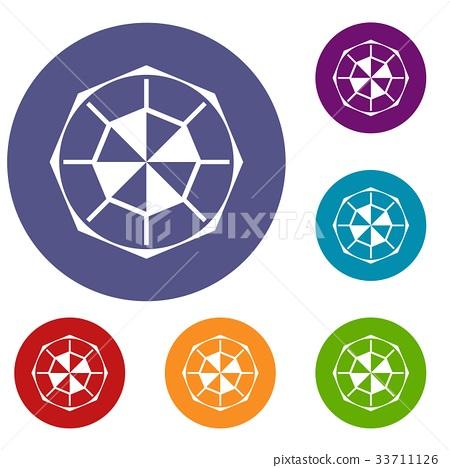 Diamond gemstone icons set 33711126