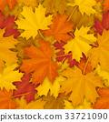 fallen maple leaves pattern 33721090