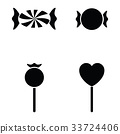 cable icon set 33724406