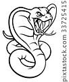 cobra, snake, vector 33725415