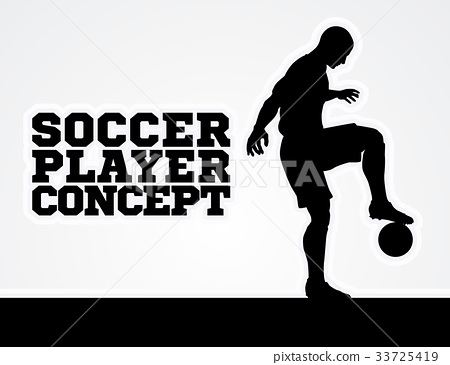 Soccer Football Player Concept Silhouette 33725419