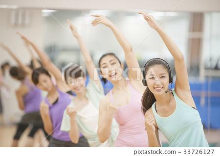 健身健康健美操健身房美女 33726127