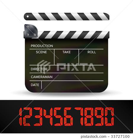 Clapper Board Vector. Digital Film Movie Clapper 33727100