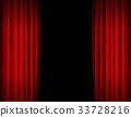 Realistic Red Opened Stage Curtains Background 33728216
