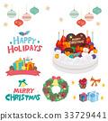 벡터, 세트, 크리스마스 33729441