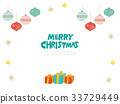 배경, 크리스마스, 벡터 33729449