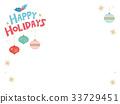 배경, 크리스마스, 벡터 33729451