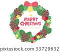 벡터, 리스, 크리스마스 33729632